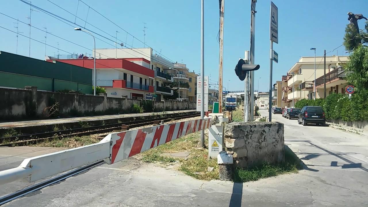 Treno regionale FAL 20 per Bari è in transito al Passaggio a livello ...