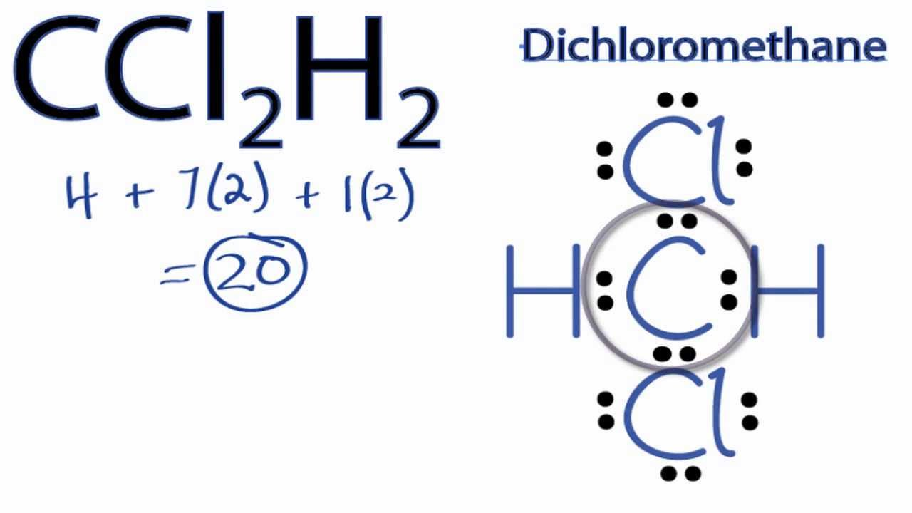 hight resolution of ccl2h2 lewis structure how to draw the lewis structure for ccl2h2 youtube