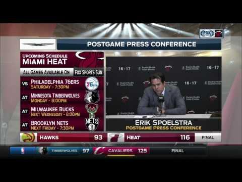 Erik Spoelstra -- Miami Heat vs. Atlanta Hawks 02/01/2017