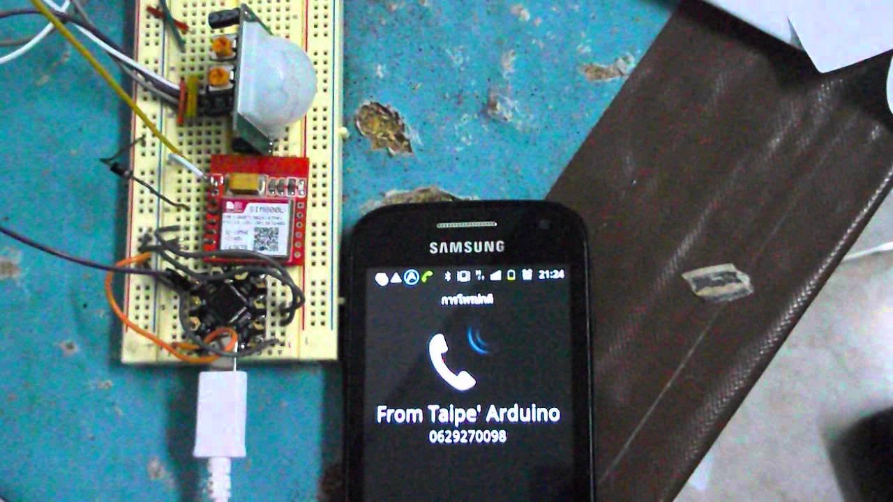 PIR Sensor and SIM800L by Taipe s Arduino