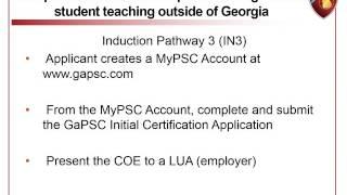Certification Overview for Georgia's Pre-K Program