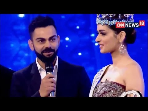 Virat Kohli & Manushi Chhillar - Indian Of The Year  Awards 2017