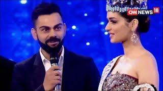Virat Kohli & Manushi Chhillar - Indian Of The Year  Awards 2017