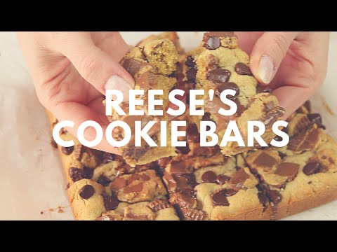 Peanut Butter Chocolate Chip Reese's Bars Recipe