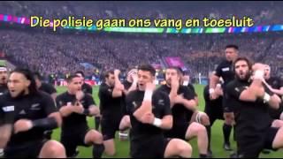 All Blacks vs Springbokke haka in Afrikaans