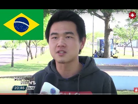 Jack Fang is on Brazilian TV News - Hitchhike the World