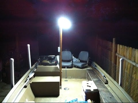 Building LED Light Post For My Boat For Night Fishing, All Details