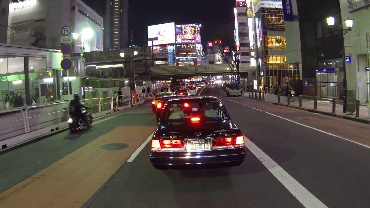 Япония. Развлекательный район Шибуя ночью. Отдых в Японии.
