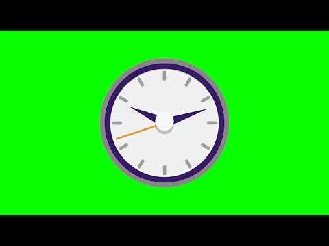 Clock/Часы: иконка на хромакей для видеомонтажа
