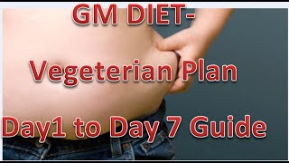 GM Diet Vegetarian Plan.Day1 to Day7 guide