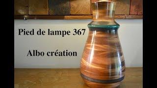 PIED DE LAMPE 367. Bois de SIPO.