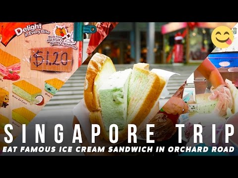Eat Famous Ice Cream Sandwich in Orchard Road Singapore | Broewnis Travel