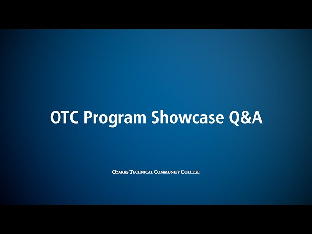 OTC Program Showcase CIS / NET Q&A