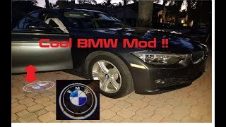 Easy Install DIY Tutorial: BMW Logo Door Projection LED Puddle lights on (F30 328i & many more)