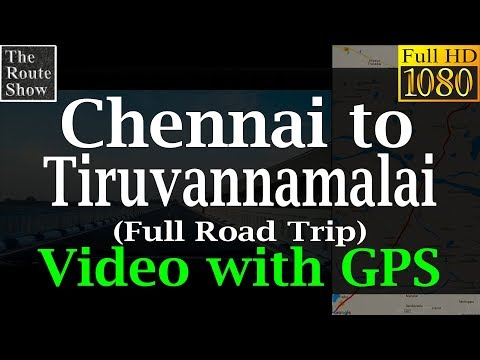 Drive to Tiruvannamalai from Chennai(Arulmigu Annamaliyar Temple) full road trip | With GPS