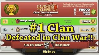 Clash of Clans: #1 Clan in the World: Kings Rock Annihilated in Clan War!
