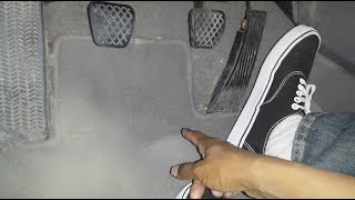 Manual Transmission: shoe and floor mat wear