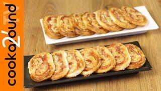 Ventagli con prosciutto cotto e grana | Ricette rustici e torte salate
