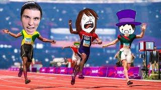 Vier YOUTUBER sprinten  200m & ich bin einfach UNBESIEGBAR!