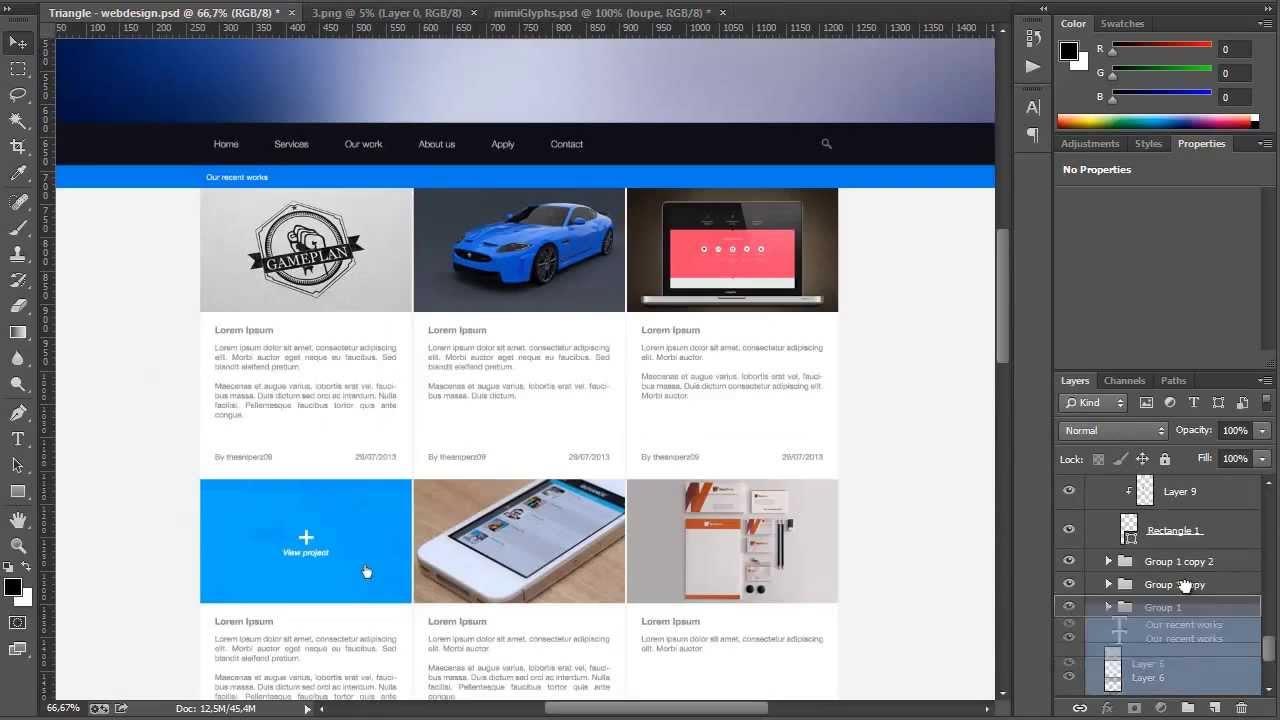 UI Design – Triangle's contest entry – Photoshop CC