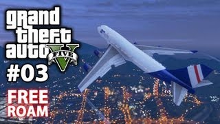 Hijacking A Commercial Airplane! -- Grand Theft Auto V #03