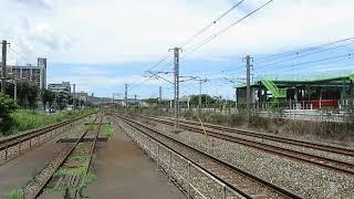 JR九州 キハ72系 臨時特急「ゆふいんの森93号」 由布院行 九州工大前駅 通過 2017年7月16日