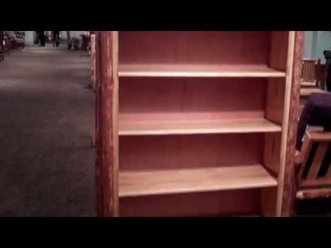 Rustic Log Bookcase - Amish Pine Bookshelf by Montana Woodworks