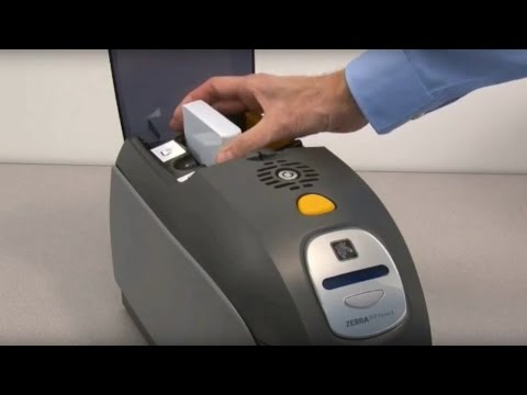 Zebra ZXP Series 3 ID Card Printer - How to Load Cards