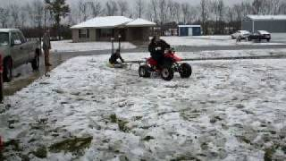 4 wheeler and snow...nice combo...but messy as mmmhhmm
