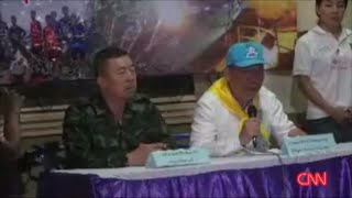 Thai officials update cave rescue mission