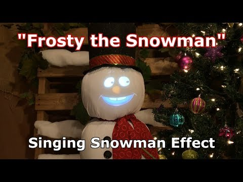 Frosty the Snowman - Singing Snowman Effect Animation!