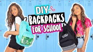DIY BACKPACKS FOR BACK TO SCHOOL 2018!
