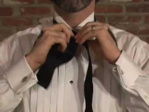 как завязать галстук бабочку.