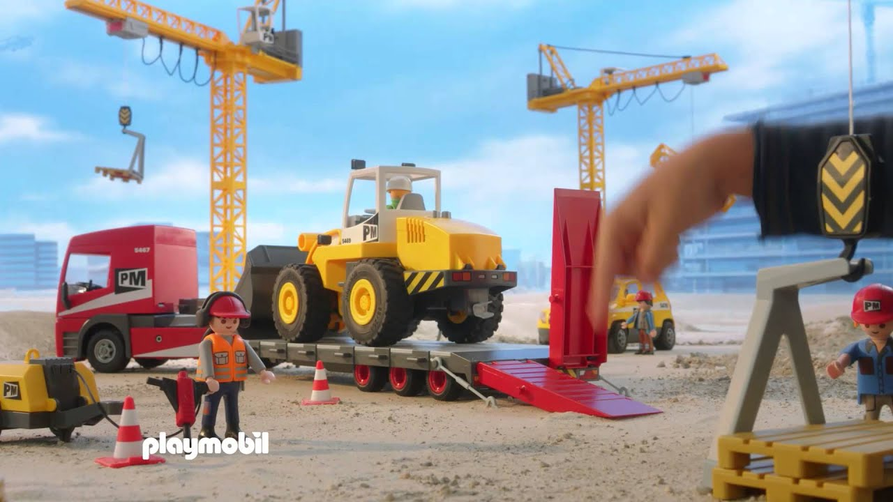 Playmobil les travaux fran ais youtube - Playmobil camion chantier ...