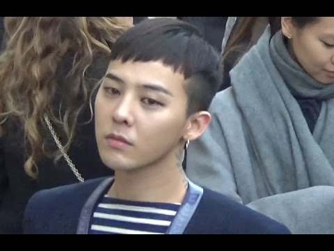 Chanel 2017 fashion show - Gd G Dragon Paris 26 January 2016 Show Chanel