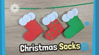 How to make easy paper Christmas Socks