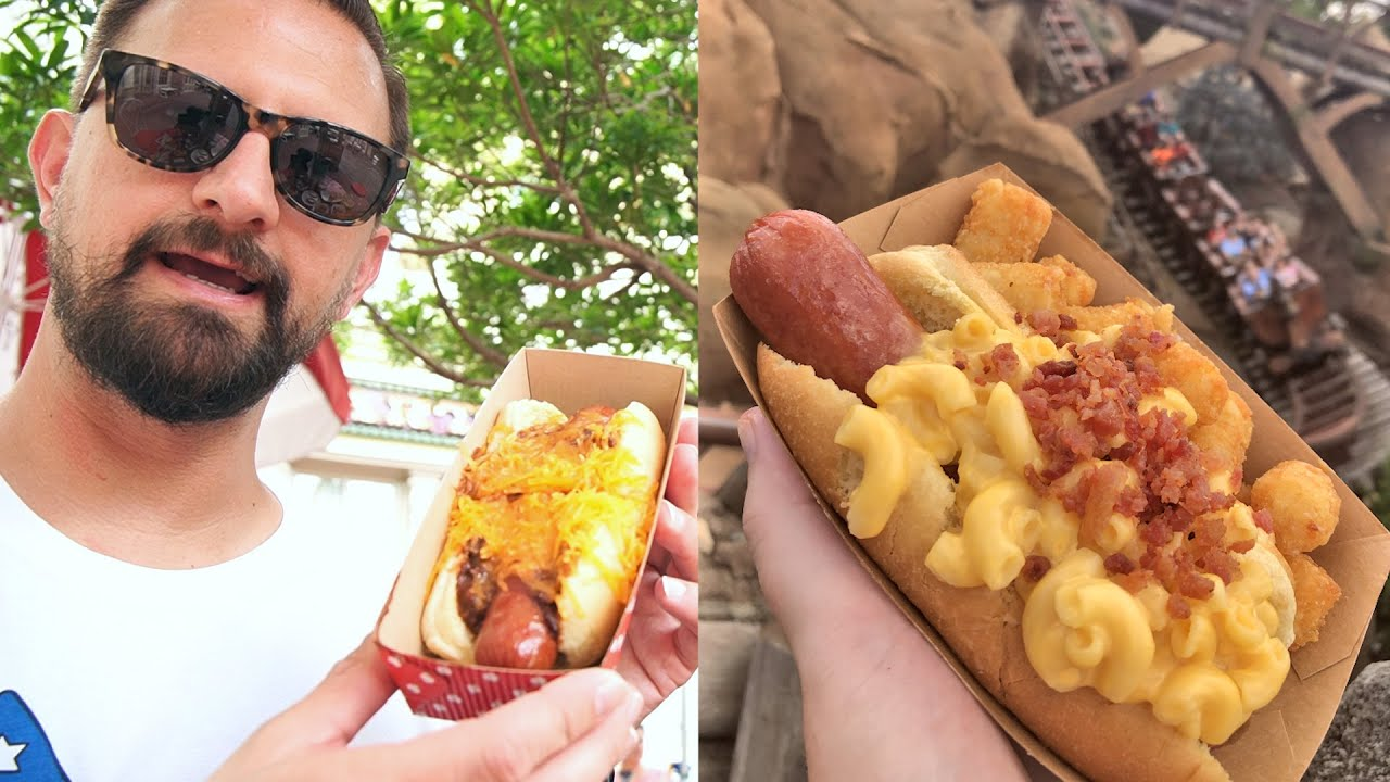National Hot Dog Day Experience At Disney's Magic Kingdom! | Every Variety Of Hot Dog In The Park!