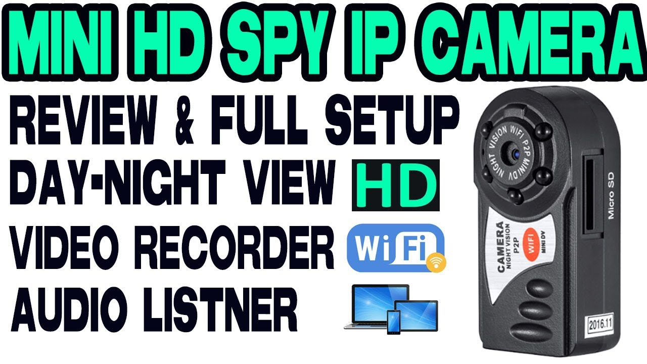 Wifi Q7 Mini HD IP Camera -(LAN, WAN, Night Vision)-Full setup 📸📷
