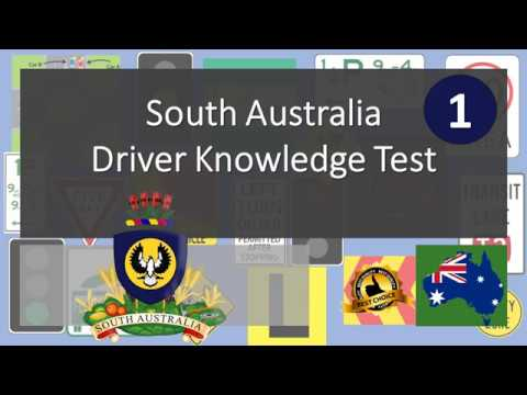South Australia Driver Knowledge Test 1 -  Australia Driving Tests