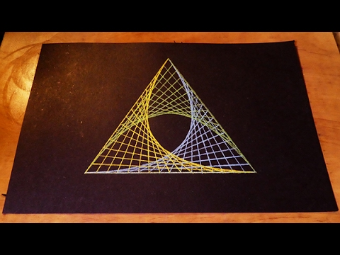 How To Draw Spirograph Pattern Art In Triangle | Geometric Tutorial