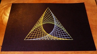How To Draw Spirograph Pattern Art In Triangle   Geometric Tutorial