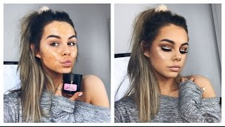 DRUGSTORE GLITTER PROM MAKEUP TUTORIAL | + EXCITING UPDATES (MEET UP)