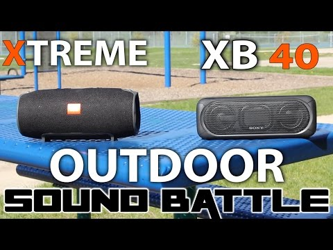 Outdoor Test: JBL  Xtreme vs Sony SRS XB40. Who is the loudest?
