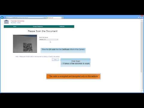 Online Certificate Verification