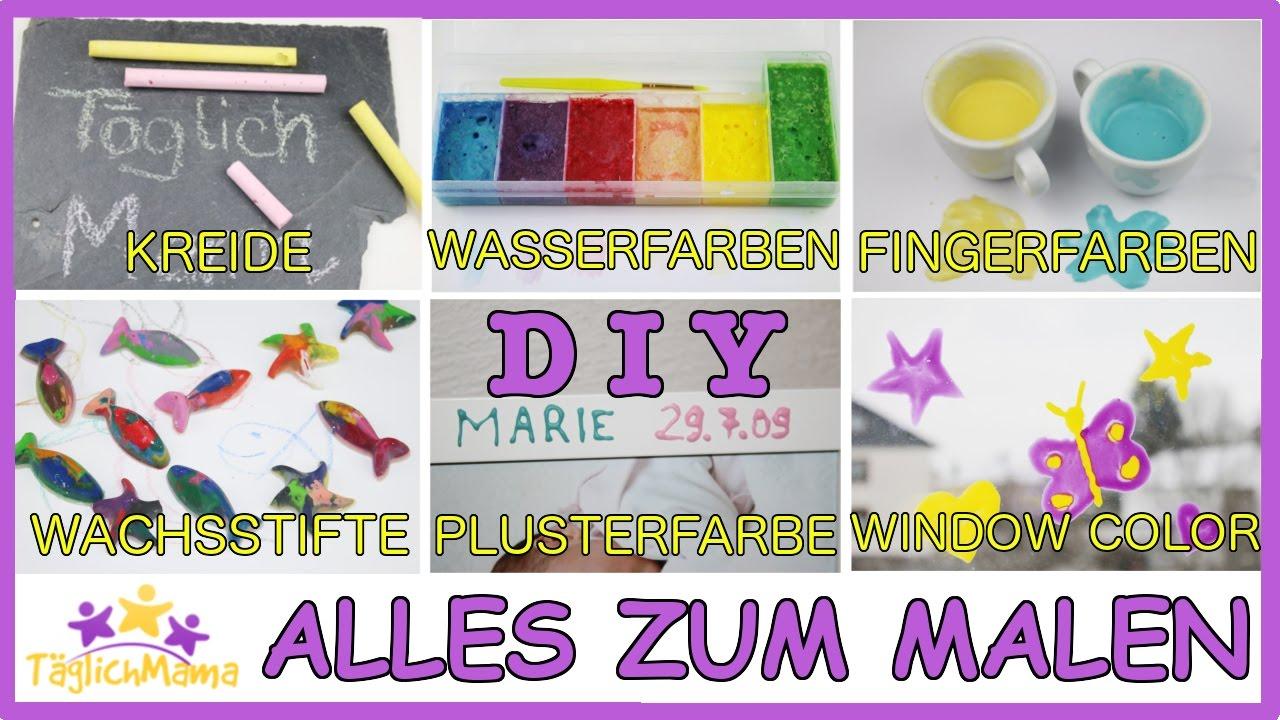 Diy kreide wasserfarben fingerfarben wachsstifte - Fingerfarben ideen ...