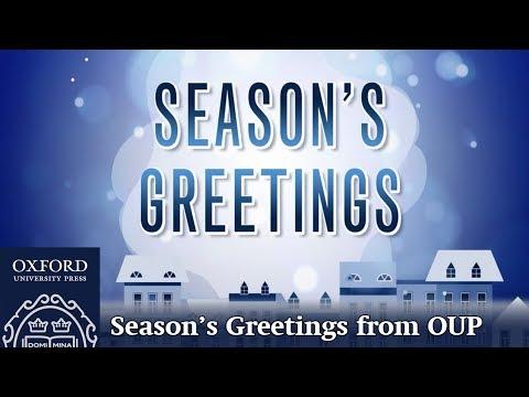 Season's Greetings from Oxford University Press