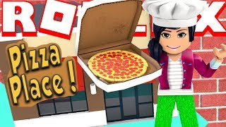 CRAZY FIRST DAY AT ROBLOX PIZZA PLACE! *I Stole A Car AND Got a Bonus!* (Pizza Place Simulator)