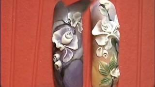 Наращивание и дизайн ногтей. Курс Акриловая лепка - (Растительный мир) Роза