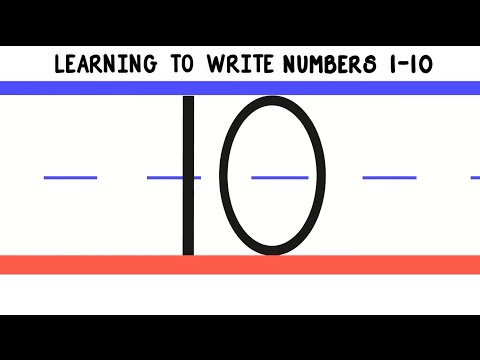 Learning To Write Numbers 1 10 How To Write 1 To 10 For