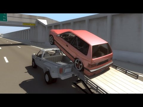 Trailers Used as Ramps - BeamNG.drive